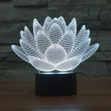 7 Colors Changing Touch Control Flashing Lotus Flower 3D LED Night Light USB Christmas Table Lamps Baby Sleep Mood Lamp