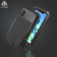 LOVE MEI For IPhone X Case Cover Luxury Hard Metal Aluminium Silicone Heavy Duty Full Cover