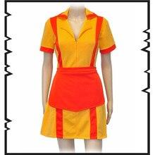 TV Series  Cosplay 2 Broke Girls Costumes Waiters clothing uniform Dress European size Free Shipping