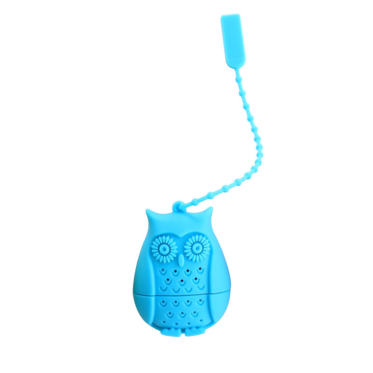 Set of 4 Silicone Owl Tea Bag Creative Silicone Tea Infuser Filter for Mug Tea Pot Empty Tea Bags for Loose Tea Kitchen Accessories (4)