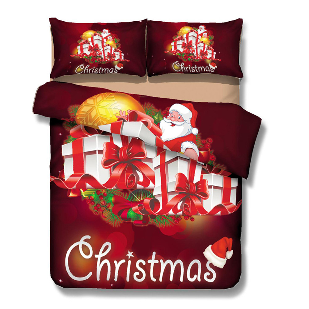 3D Printed Bedding Set Cartoon Merry Christmas Santa Claus Bedding Set Bedclothes Quilt Cover Bed Sheet 4pcs 3D Printed Bedding Set Cartoon Merry Christmas Santa Claus Bedding Set Bedclothes Quilt Cover Bed Sheet 4pcs