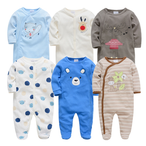 Image 5 - Kavkas Baby Rompers 6 Pcs/lot Long Sleeve Summer Baby Clothes Cotton Cartoon Printed Newborn 0 12 months Baibes Jumpsuit