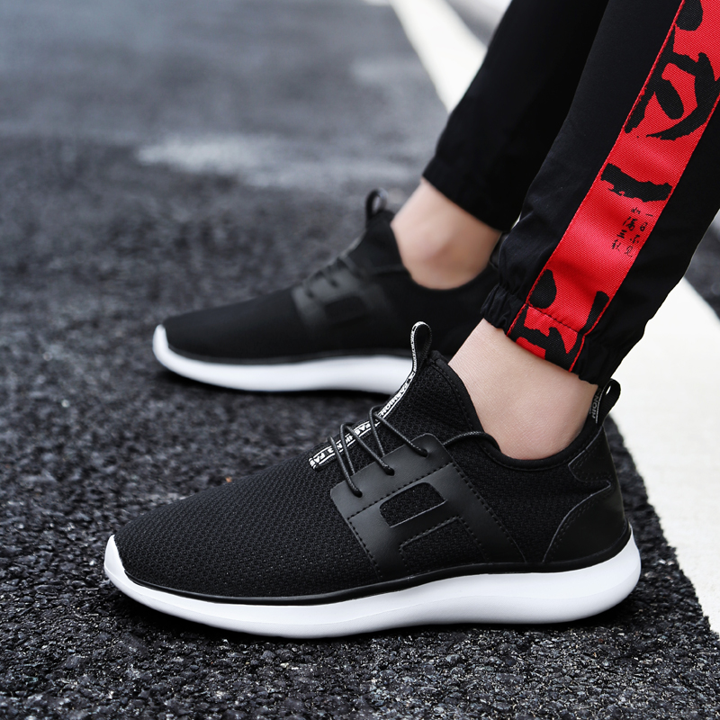 Plus Size 39-48 Spring Soft Bottom Mesh Adult Outdoor Running Shoes Ultra Light Men Sneakers Breathable Trainer Shoes Male
