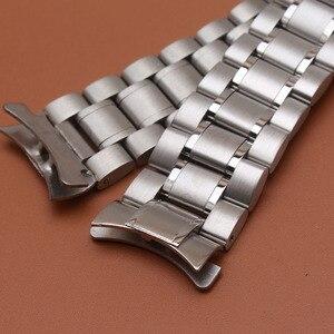 Image 4 - 18มม.20มม.22มม.24มม.สแตนเลสสตีลสร้อยข้อมือนาฬิกาข้อมือนาฬิกาผู้ชายนาฬิกาสายคล้องคอปลายโค้งความปลอดภัยClasp
