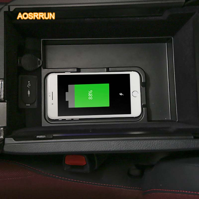 AOSRRUN Special on-board QI wireless phone charging panel Car Accessories COVER For lexus NX200 NX300 NX300H NX200T 4pcs set door window switch lift cover botton panel trim car styling for lexus nx200t nx300h decorate car covers accessories
