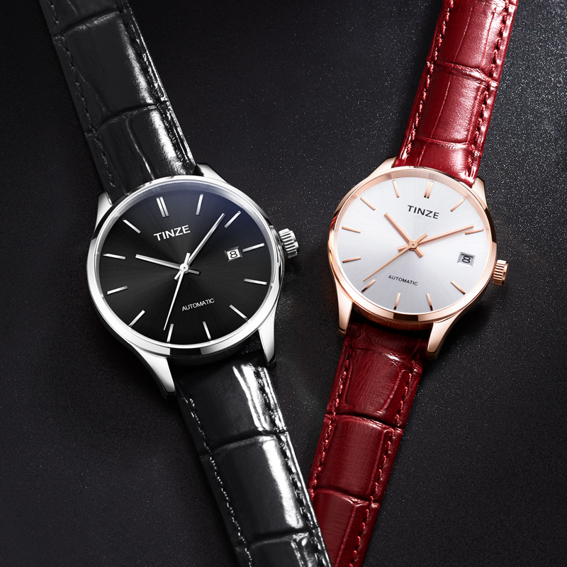 Couple Watch Trending Minimalist Montre Slim Mechanical Watches For Lovers Gift Automatic Self-Wind Relogio Feminino Waterproof