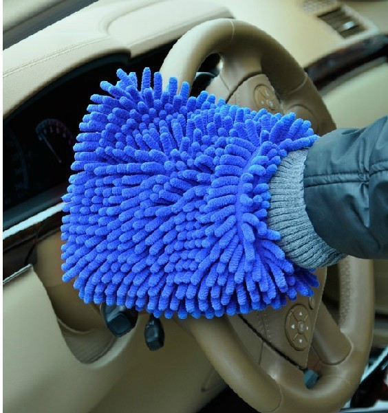 Free Shipment 95G 24*19 Super Dense Thick Mitt Microfiber Car Wash Gloves Washing Cleaning Anti Scratch Car Washer(2pcs/lot)
