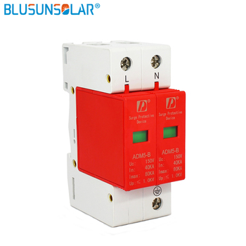10 pieces lot Din Rail 35mm 2P 80KA 380V AC SPD Household Low-voltage Anti-lightning Surge Protective Device