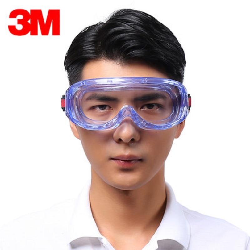 3M 1623AF Anti Chemical Splash Goggles Anti-Impact Fog Safety Anti-UV Polycarbonate Goggles Vent Design Labor Working Glasses3M 1623AF Anti Chemical Splash Goggles Anti-Impact Fog Safety Anti-UV Polycarbonate Goggles Vent Design Labor Working Glasses