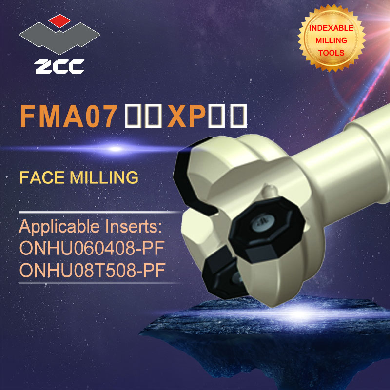 ZCC.CT original face milling cutters FMA07 FMA07-XP- high performance CNC lathe tools indexable milling tools zcc ct square shoulder milling cutters emp05 high performance cnc lathe tools indexable milling tools