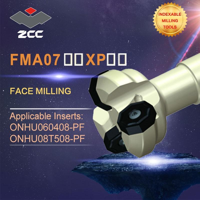 ZCC.CT original face milling cutters FMA07 FMA07-XP- high performance CNC lathe tools indexable milling tools popular cnc lathe machining center indexable square shoulder milling tools holder with high precision pe05 17b32 100 08