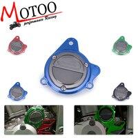 Motoo CNC Motorcycle Left Starter Motor Cover For Kawasaki KLX250 KLX 250 D Tracker 1993 2016