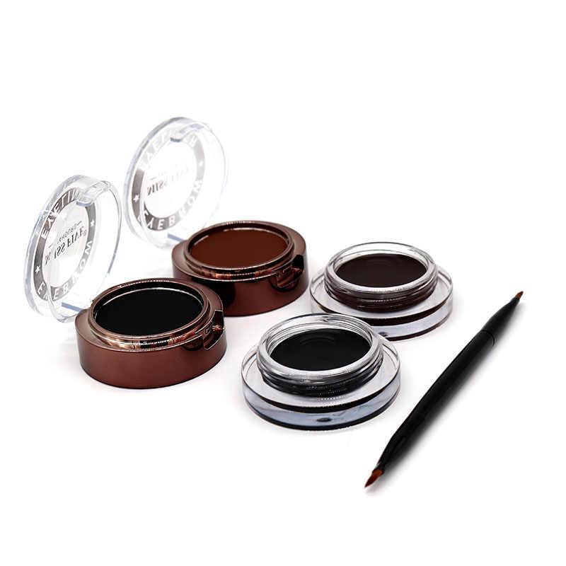 New Arrival 24H bardzo trwała czarny i brązowy brwi Eyeliner 4 w 1 wodoodporny żel zestaw do makijażu Eye Liner kosmetyki