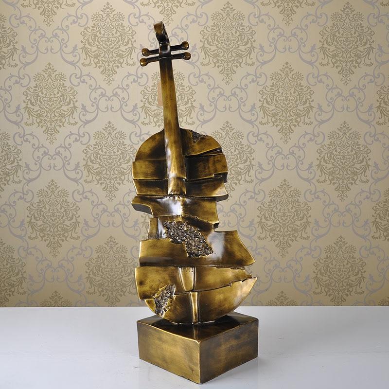 Faire l'ancienne résine de style européen ornements guitare instrument de musique bar décorations de table artisanat de mode personnalisé - 3