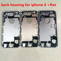 back cover with flex Middle Frame Chassis For iPhone 6 4.7 back housing Free Shipping