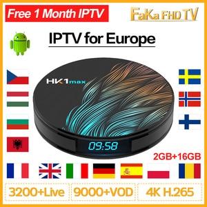 Image 1 - IPTV Francia Full Hd IPTV árabe francés Italia Canadá IP TV código HK1 MAX Android 9,0 Portugal españa Turquía Alemania UK 4K IPTV Box