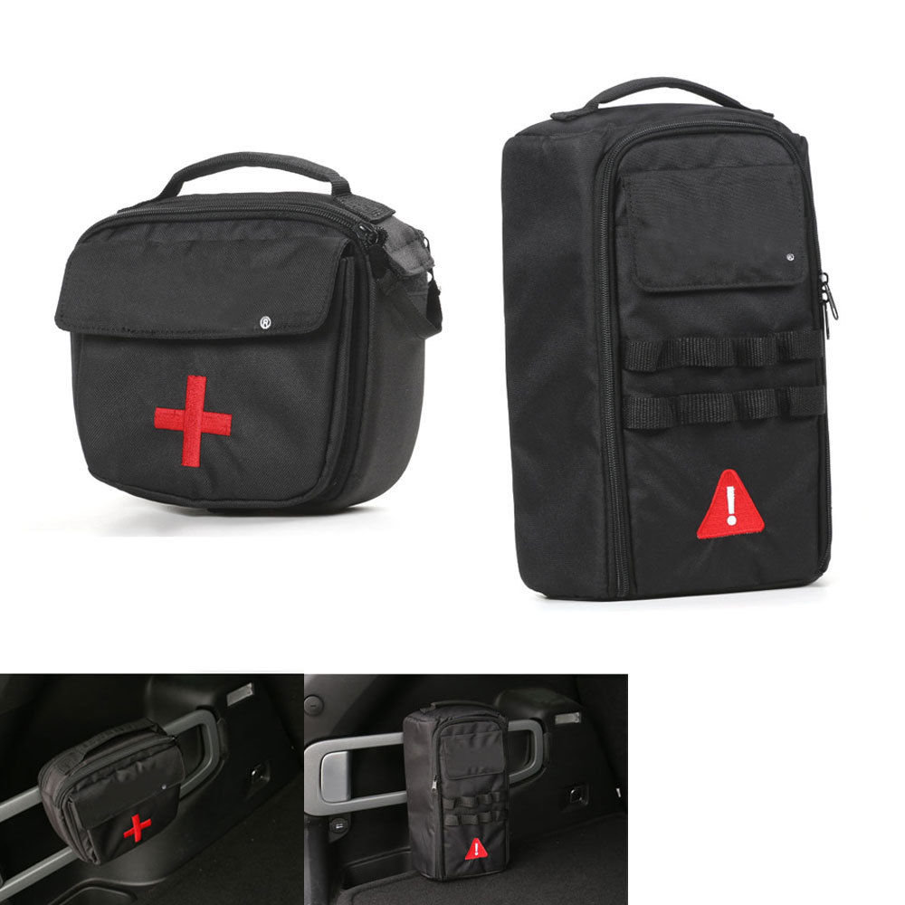 BBQ@FUKA 2x Car First-Aid Medical Kit Bag Rescue Case Tools Kit Bag Case Fit For Jeep Cherokee 2014-16