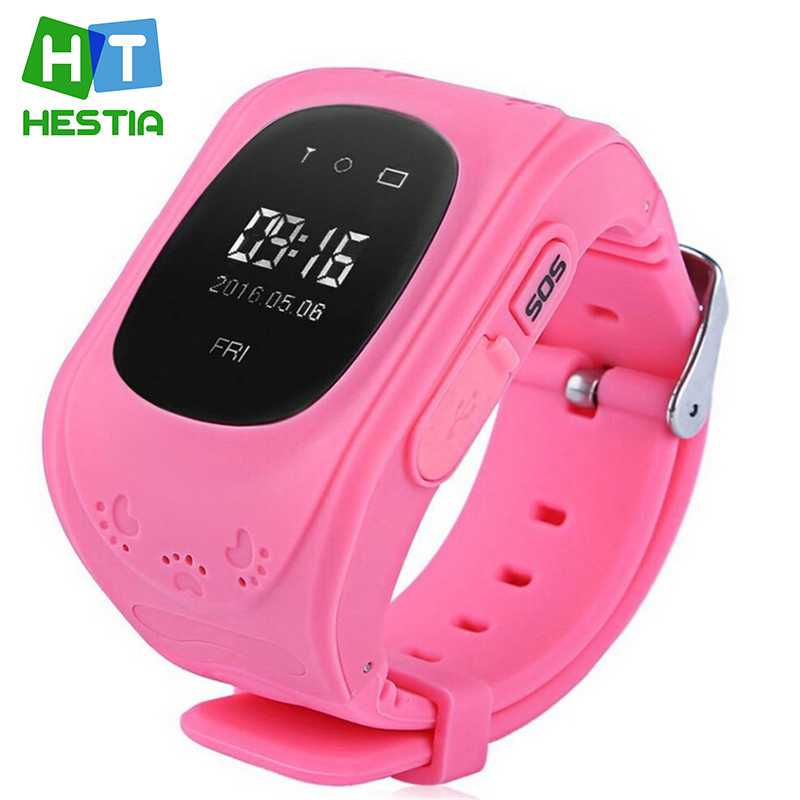 HESTIA Smart watch Children Kid Wristwatch Q50 GSM GPRS GPS Locator Tracker Anti Lost font b