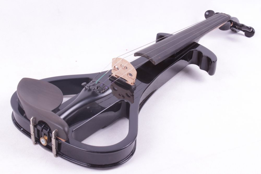 4/4 Electric Violin Solid wood Silent Pickup Fine #3-8 black color 4 string 4 strings new 4 4 electric violin silent pickup fine tone parts include new golden color 5 22 red color