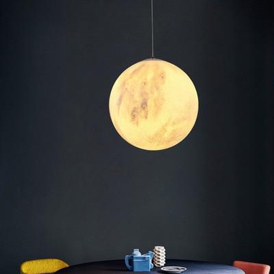 Креативный 3D отпечаток кулон Огни Новинка Луна атмосферный ночник лампа ресторан/бар подвесное освещение