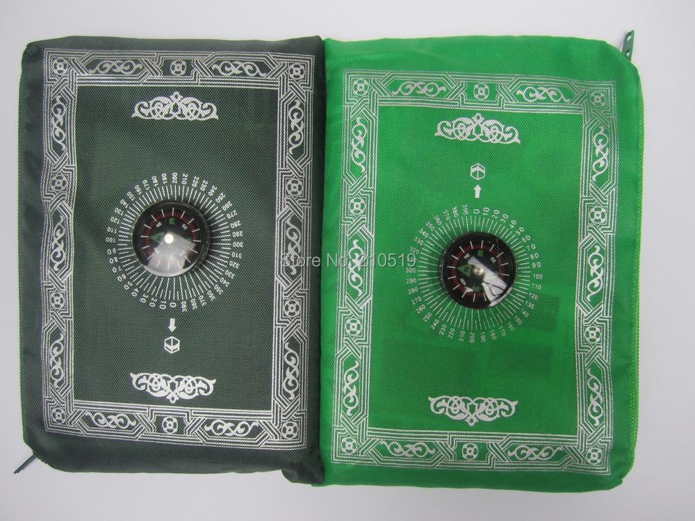 24pcs/lot mix 4colors Travel muslim without compass pocket size prayer mat