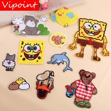 VIPOINT embroidery fish bear bird patches cartoon badges applique for clothing YX-222