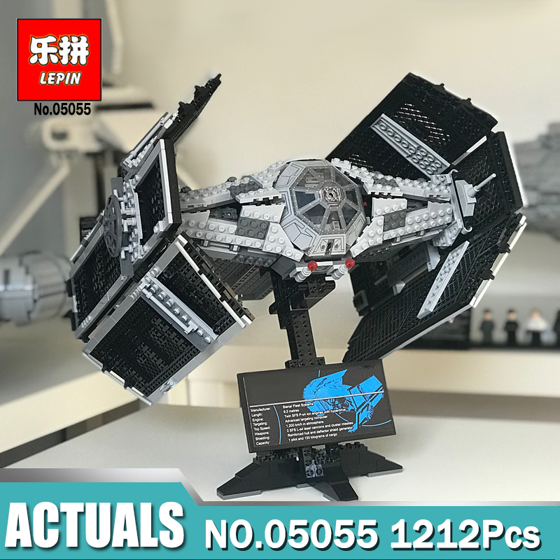 Lepin 05055 star wars the force awakens Vader's TIE Toys For Boys Model Building Kits Blocks LegoINGlys 10175 children gifts star wars 10373 force awakens tie advanced prototype building blocks toys for children gifts block compatible legoingly 75082