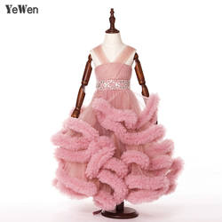 Облако маленьких платья в цветочек для девочек для свадеб Детские вечерние платья фотографии детей платье детский выпускной вечер