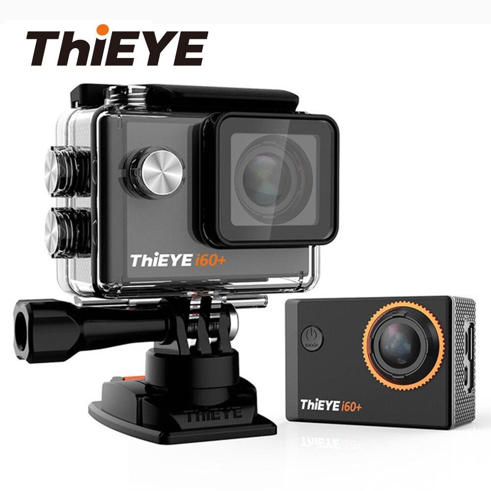 ThiEYE i60 + 4 K 30fps Full HD WiFi caméra d'action 60 M Étanche caméra vidéo de sport 170 Degrés Grand-angle caméra de sport
