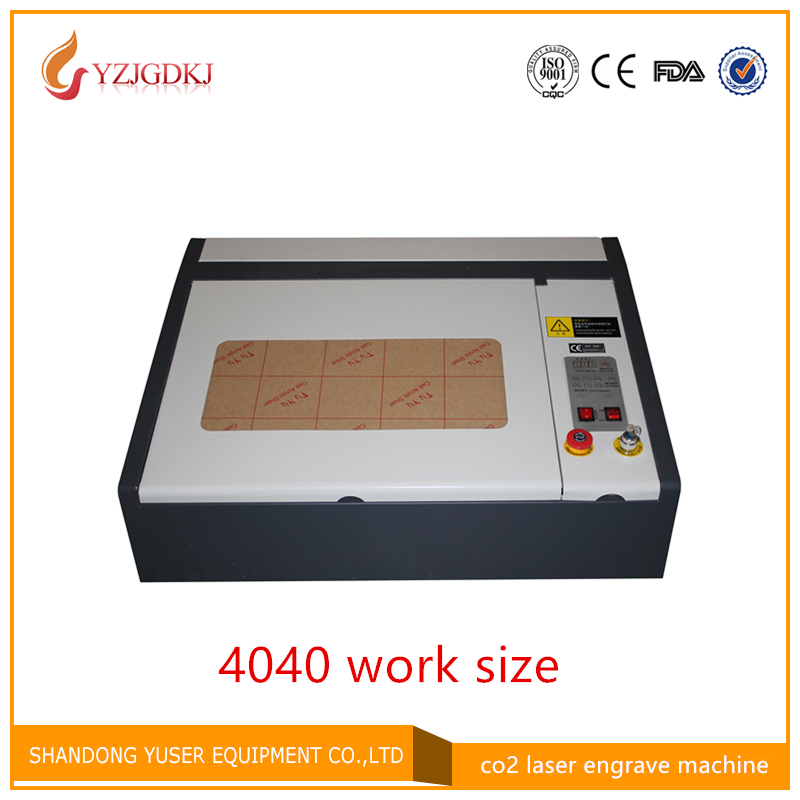 Free shipping 4040 laser engraving machine for rubber plates 40W free shipping 4040 cardboard plates machine laser cutter 50w