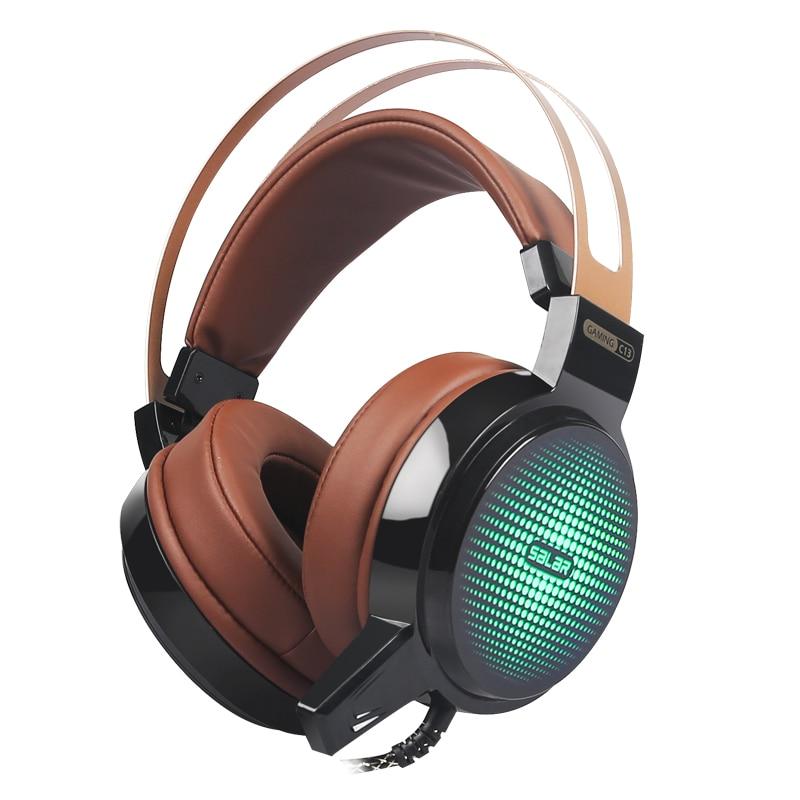 Salar C13 Oyun qulaqlıq Stereo Dərin Bass Oyun qulaqlıq Kompüter - Portativ audio və video - Fotoqrafiya 2