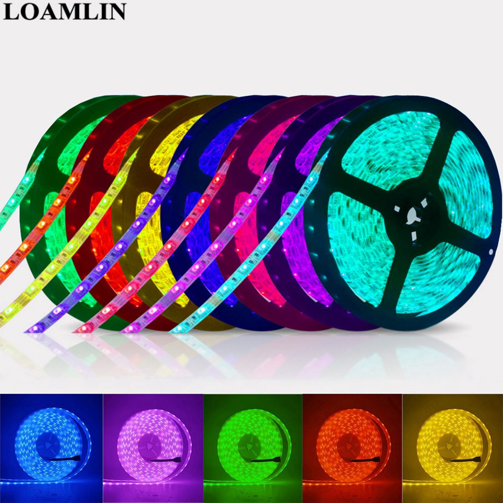 Led Strip 5050 RGB Lights DC12V Flexible Home Decoration Lighting Waterproof Led Tape RGB/White/Warm White/Blue/Green/Red
