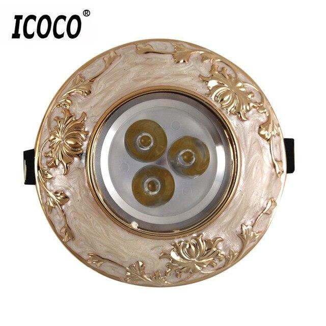 Cimiva Classical 3W LED Ceiling Resin Panel Home Lighting Office Spotlight Modern
