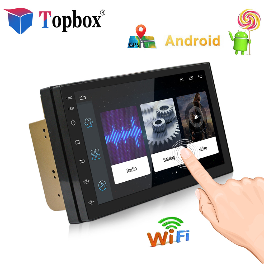 Topbox 7'' Android Car Multimedia Player Bluetooth 2din Universal Car Radio WIFI GPS Navigation Radio GPS Stereo Audio Player auto android 6 0 car audio gps navigation 2din car stereo radio car gps bluetooth usb universal interchangeable player tv 8g map