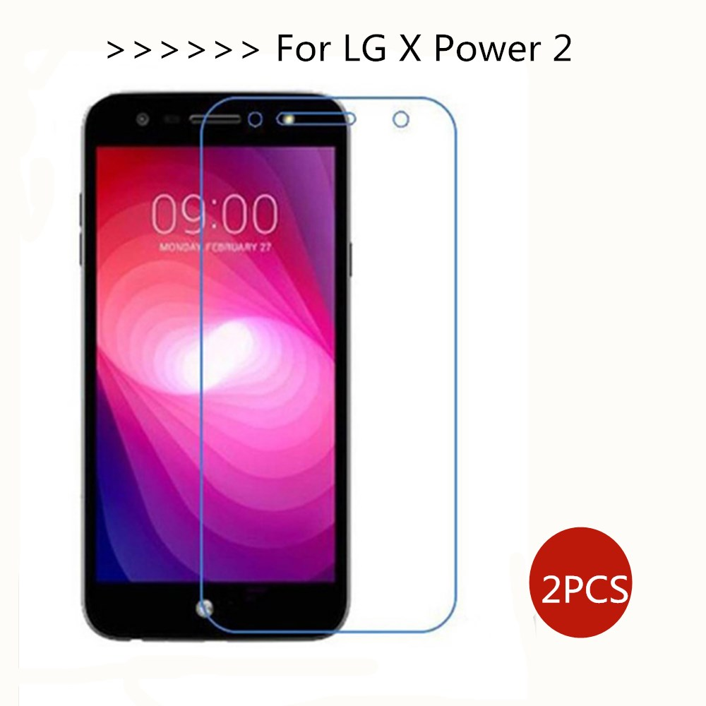 2pcs For Tempered Glass LG X Power 2 Screen Protector LG X P