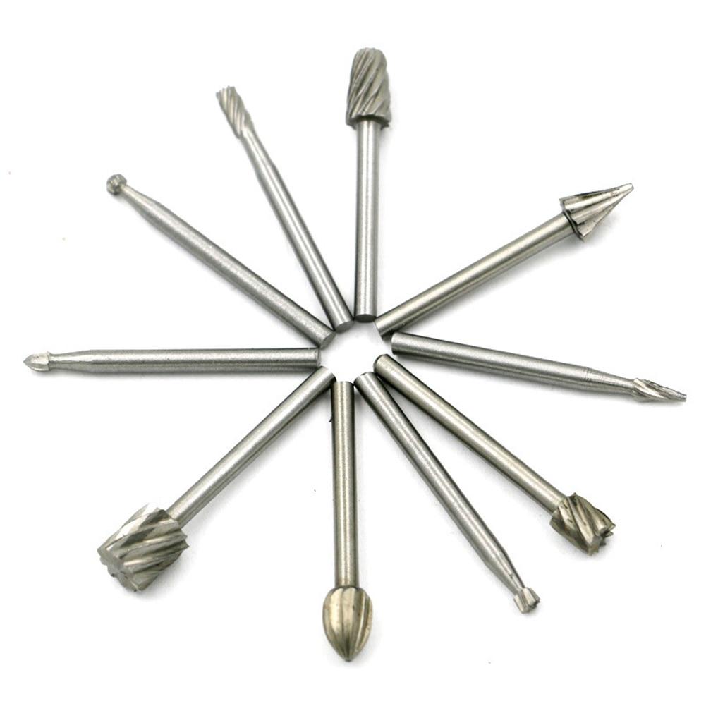 10 Stücke Neue 3mm Grate Holz Rotary Grat Mühle Cutter Bohrer Grinder Carving Für Diy Holz Stein Metall Wurzel Carvingtools Handwerkzeuge Werkzeuge