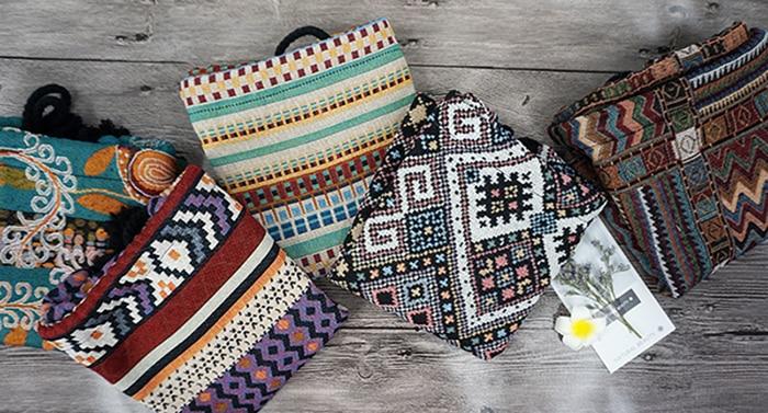 HTB1nZ19aOQnBKNjSZFmq6AApVXaS LilyHood Women Fabric Backpack Female Gypsy Bohemian Boho Chic Aztec Ibiza Tribal Ethnic Ibiza Brown Drawstring Rucksack Bags