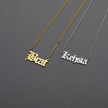 Any Custom Name Necklace choker Arabic Heart butterfly Crawn цепочка Gold For Women Jewelry Bijoux Femme