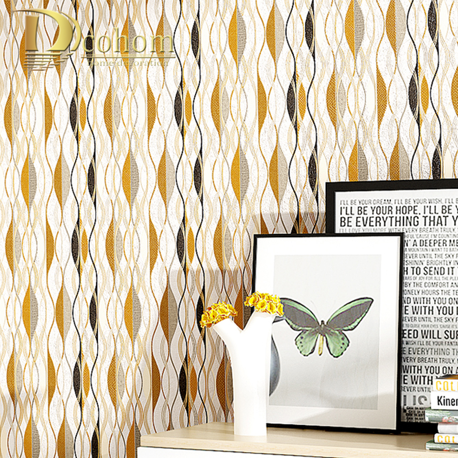 Modern simple 3d embossed geometric pattern designs wallpaper for living room bedroom walls decor pvc wall paper rolls