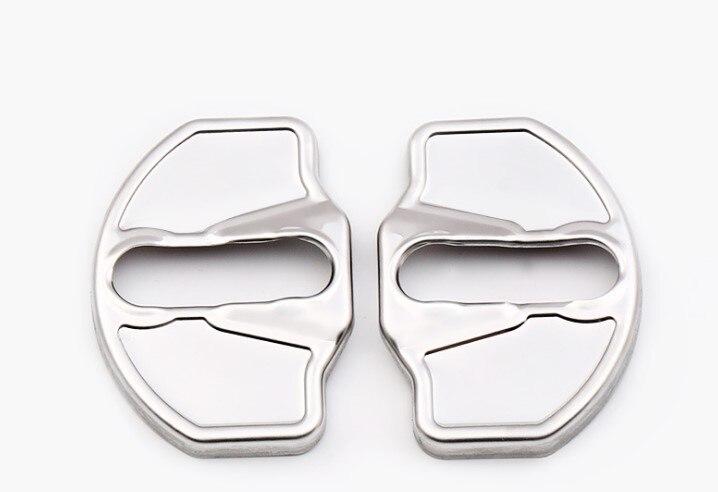 2 шт. Нержавеющаясталь автомобиля Защита на двери Рамки Автомобиль Стайлинг для Тесла модель x 2014 2015 2016 2017