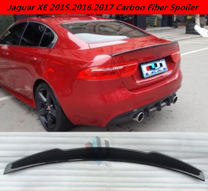 Jaguar Xe Rear: JIOYNG Carbon Fiber Car Rear Wing Trunk Lip Spoilers Lid