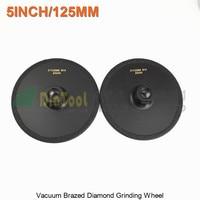 2pcs Diameter 125mm Vacuum Brazed Diamond Flat Grinding Wheel M14 Grit 30 5 Inches Grinder Disc