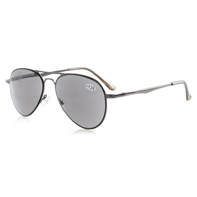 R15036 Eyekepper Readers Quality Spring Temples Pilot Style Reading Glasses & Reading Sunglasses Sun Readers +0.50-----+4.00