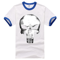 2017 New Fashion Brand Clothing The Punisher Skull Short Sleeve Casual Streetwear Hipster Crossfit Funny Hip