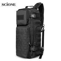 Men Chest Sling Backpack Men S Bags One Single Shoulder Man Large Travel Military Backpacks Molle