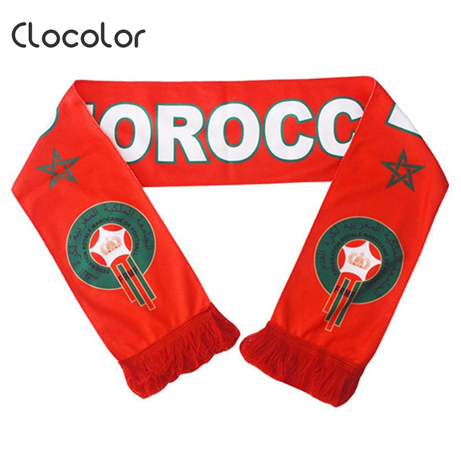 Clocolor Red Scarf 2018 New Fashion Soccer Win Cheerleaders Letter Print Team Flag Fan Banner Hot Sale