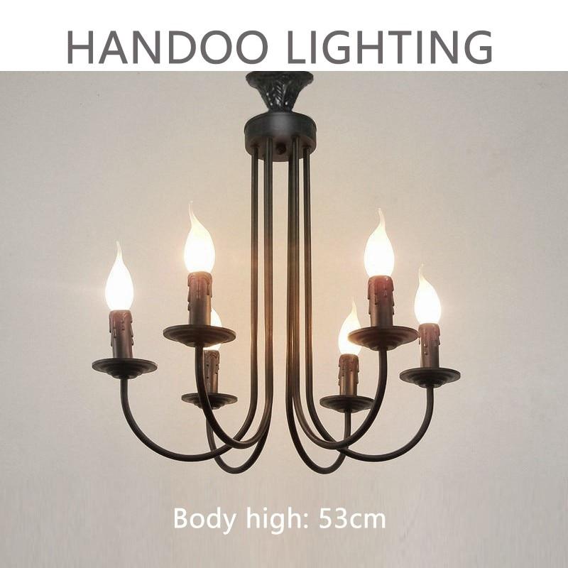 ingyenes szállítás Black Iron kreatív mennyezeti lámpatest - Beltéri világítás