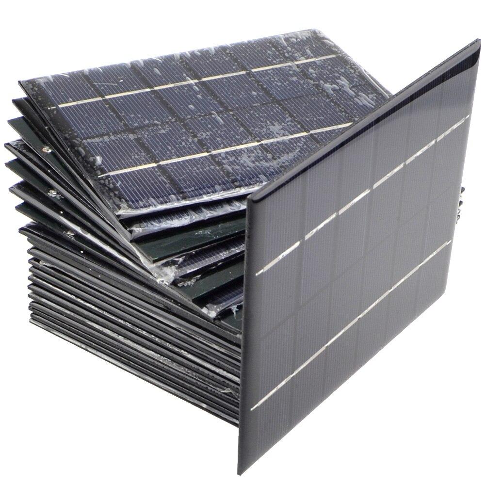 10pcs lot 6V 0 33A 2W Mini Solar Panels Solar Power 3 6V Battery Charge Solar