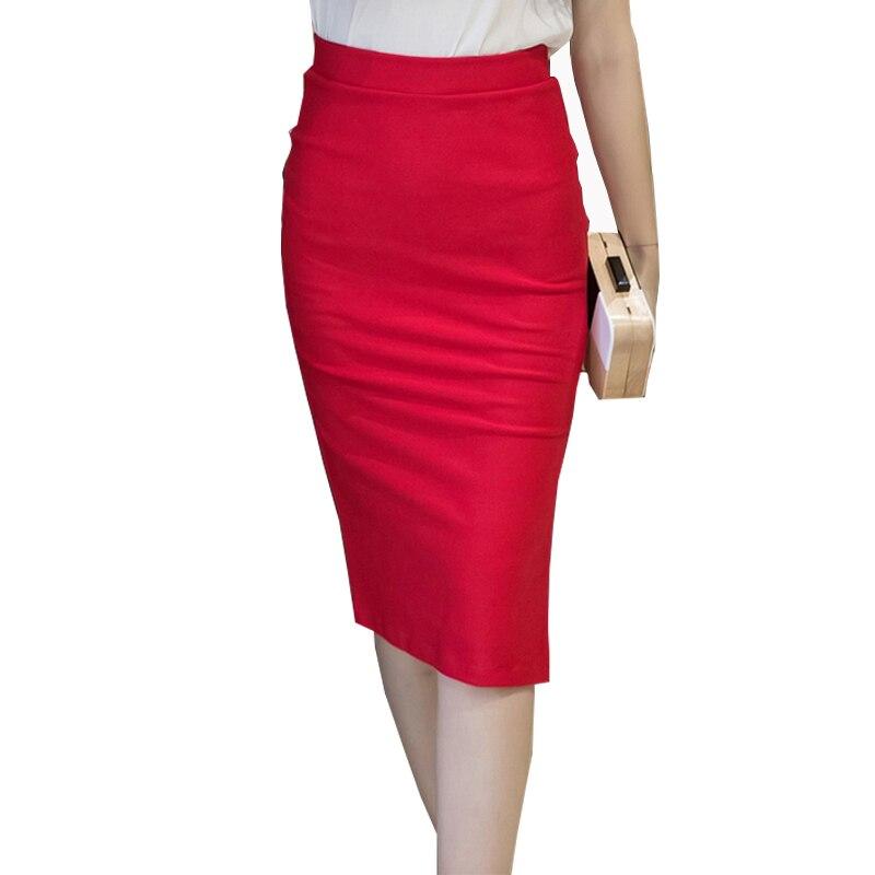01268e4960 Detail Feedback Questions about 2018 Winter High Waist Black Office Ladies  Midi Wrap Pencil Skirts Women Kinitted Solid Sexy Slim Elastic Saia Lapis  Longa ...