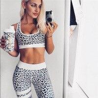 Tracksuit For Women Print Leopard Sport Suit Fitness Yoga Set Painting Print Running Leggings Fitness Jogging